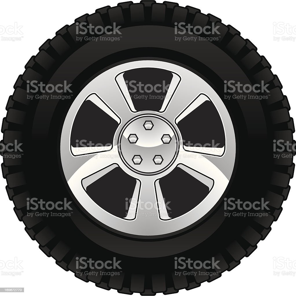 Best Truck Tire Illustrations Royalty Free Vector