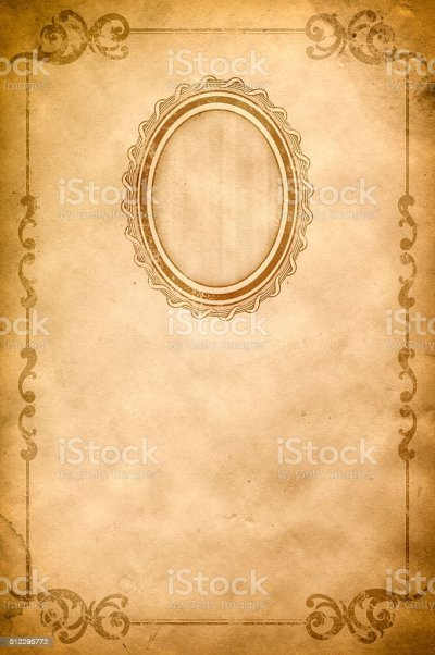 Old Paper Background With Oldfashioned Frame And Border ...