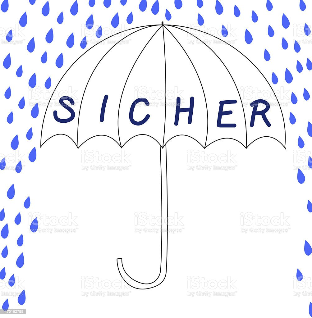 Sicher Safe Sicher Safe In German Language Stock Vector Art More Images Of