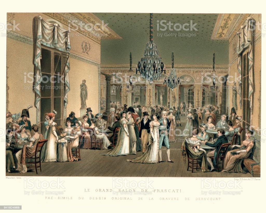 Grand Salon The Grand Salon Of Frascati Late 18th Century Stock Vector Art