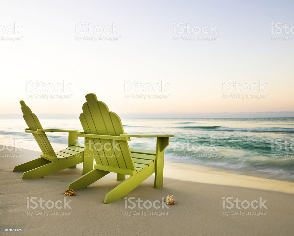 Adirondack Chairs On Beach Stock Photo Download Image Now Istock