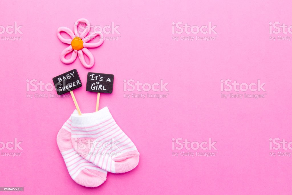 Cute Twins Baby Hd Wallpaper Baby Girl Pink And White Socks On Pink Background With