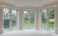 Bay Window Patio Doors stock photo 166038283   iStock