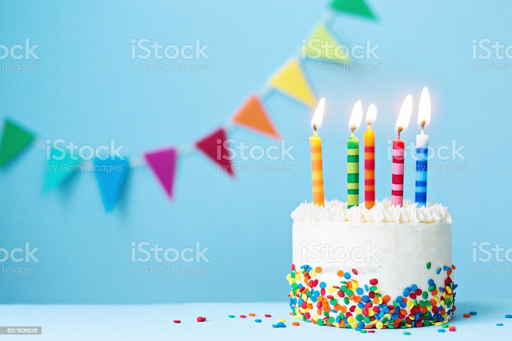 Feliz Cumple Mes Bebe Best Birthday Cake Stock Photos, Pictures & Royalty-free