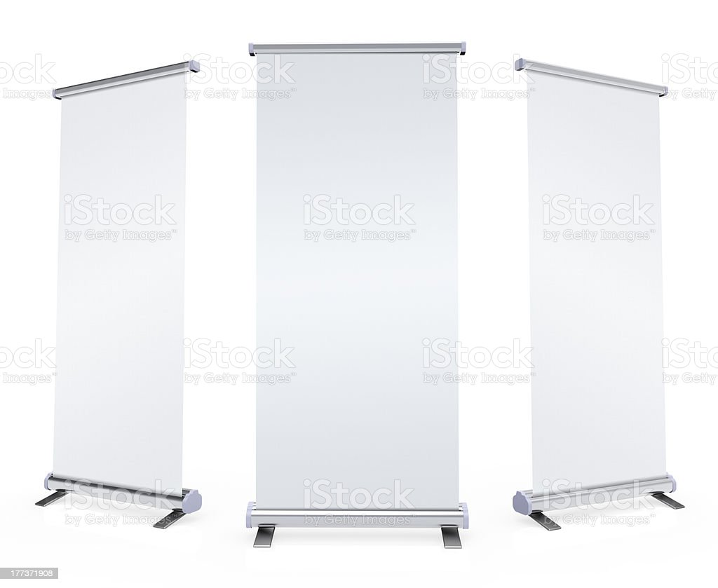 Plexiglaswand Blank Roll Up Banner Stock Photo And More Pictures Of