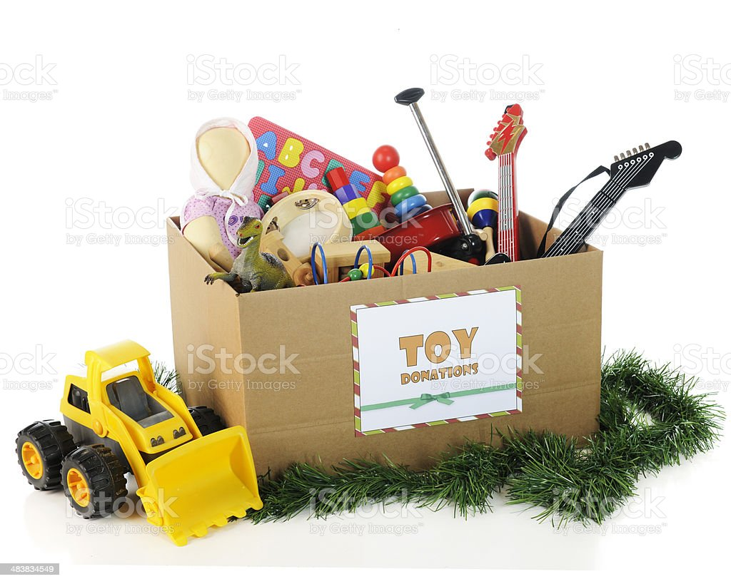Charity Toys For Christmas Stock Photo Download Image