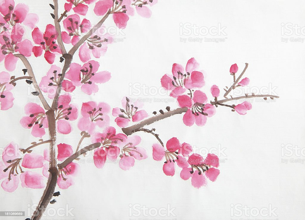 Beautiful Chinese Girl Painting Wallpaper Chinese Painting Of Flowers Stock Photo Amp More Pictures Of
