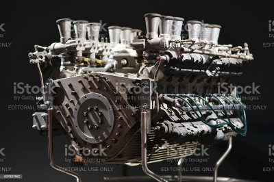 Classic V12 Engine From Racing Car stock photo | iStock