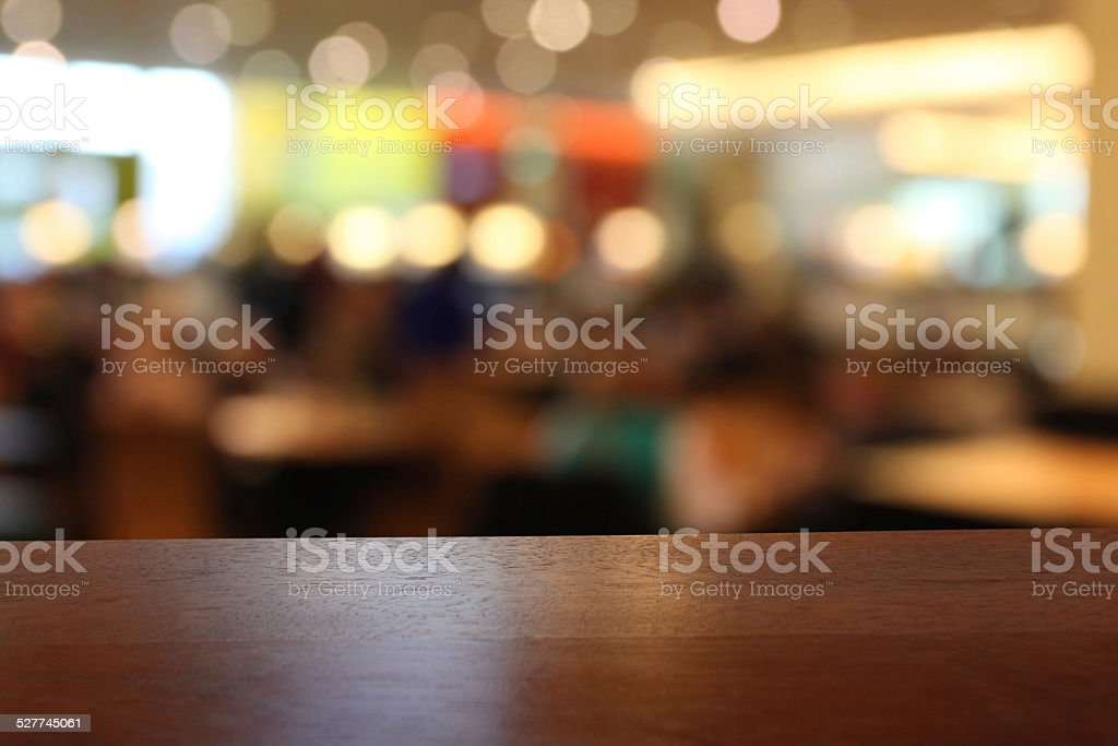 Graphic Stock Free Trial Closeup Of Empty Table In A Restaurant Defocused
