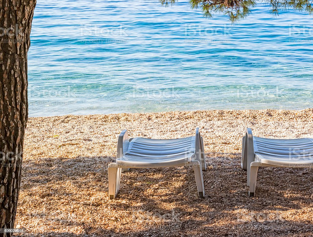 Deck Chairs On The Beach Stock Photo Download Image Now Istock