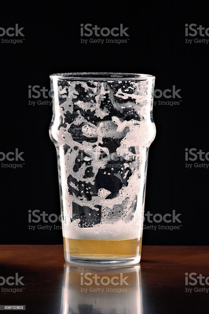 Drinking Wine In Best Empty Beer Glass Stock Photos, Pictures & Royalty