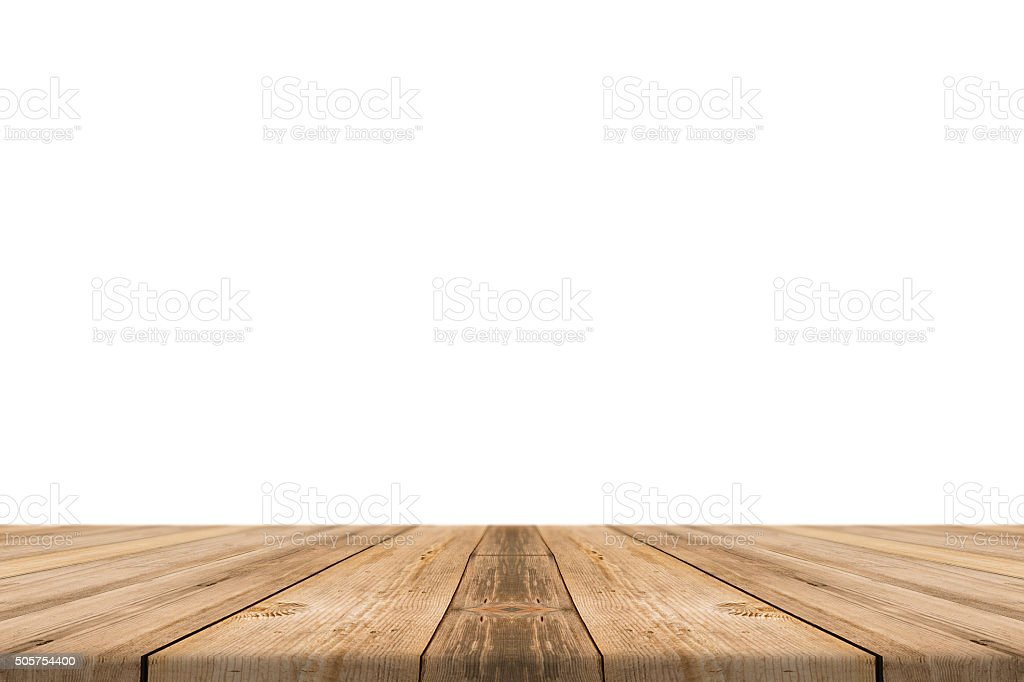 3d Beach Wallpaper Cost Empty Light Wood Table Top Isolate On White Background