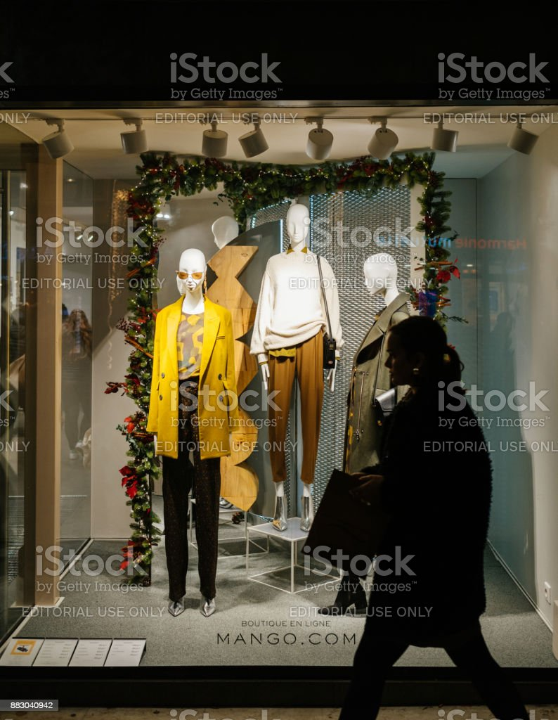 Store En Stock Fashion Facade Of The Mango Store In France Stock Photo More