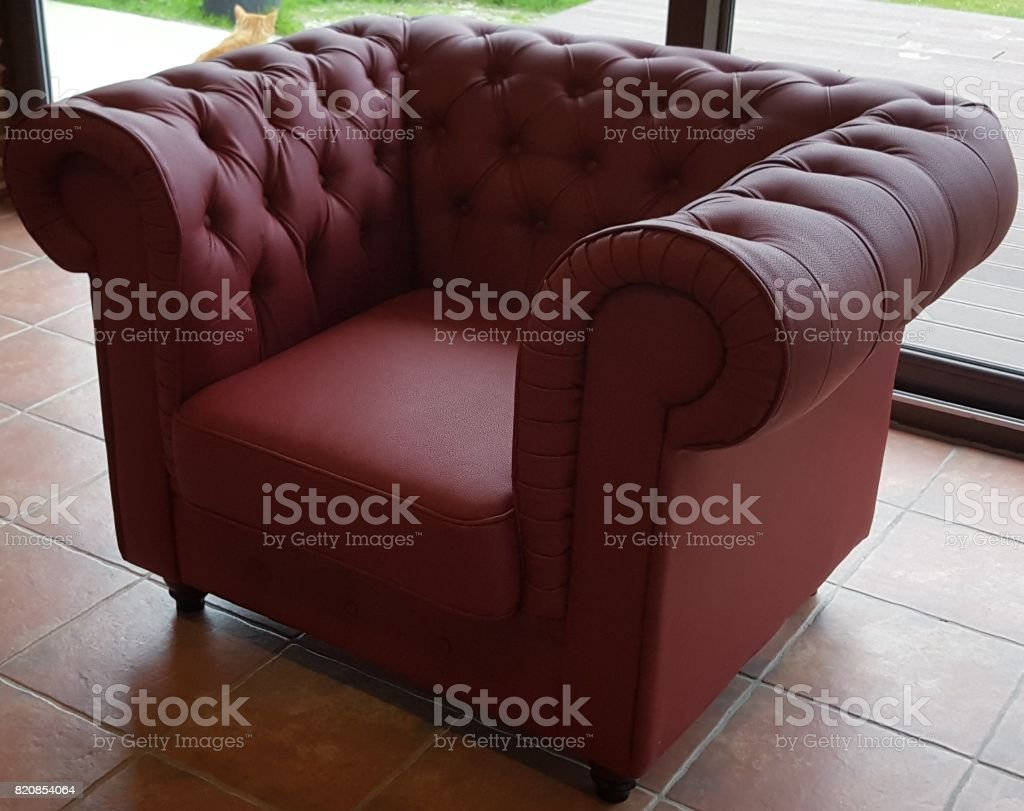 Fauteuils Chesterfield Rouge Fauteuil Chesterfield Cuir Rouge Stock Photo More Pictures Of