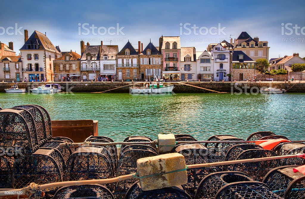 From Le Croisic Loireatlantique France Stock Photo - Hôtels Le Croisic France