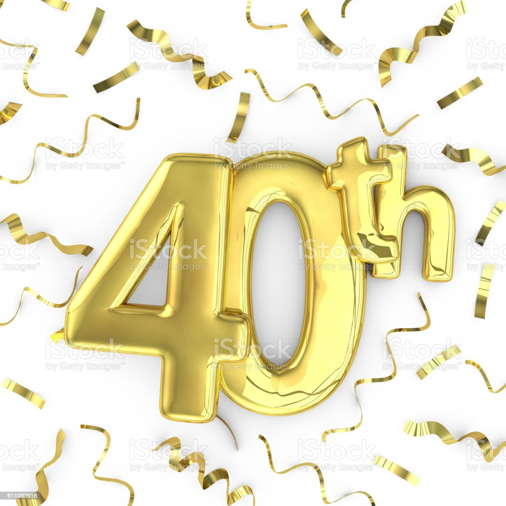 Golden 40 Gold 40th Party Birthday Event Celebration Background