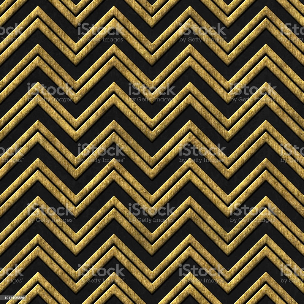 Motif Relief Gold And Black Seamless Texture With Relief Pattern Stock Photo