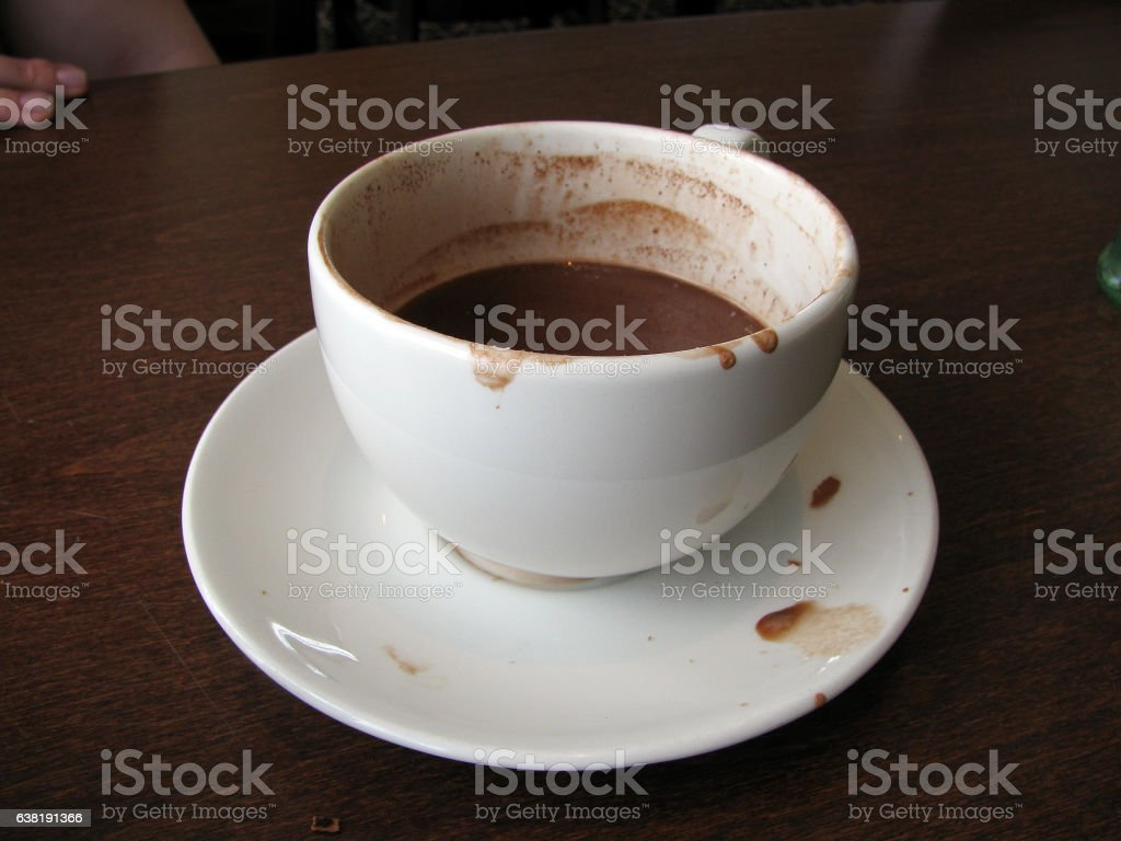 Mug A Cafe Half Drunk Mug Of Hot Chocolate In A Cafe Stock Photo More