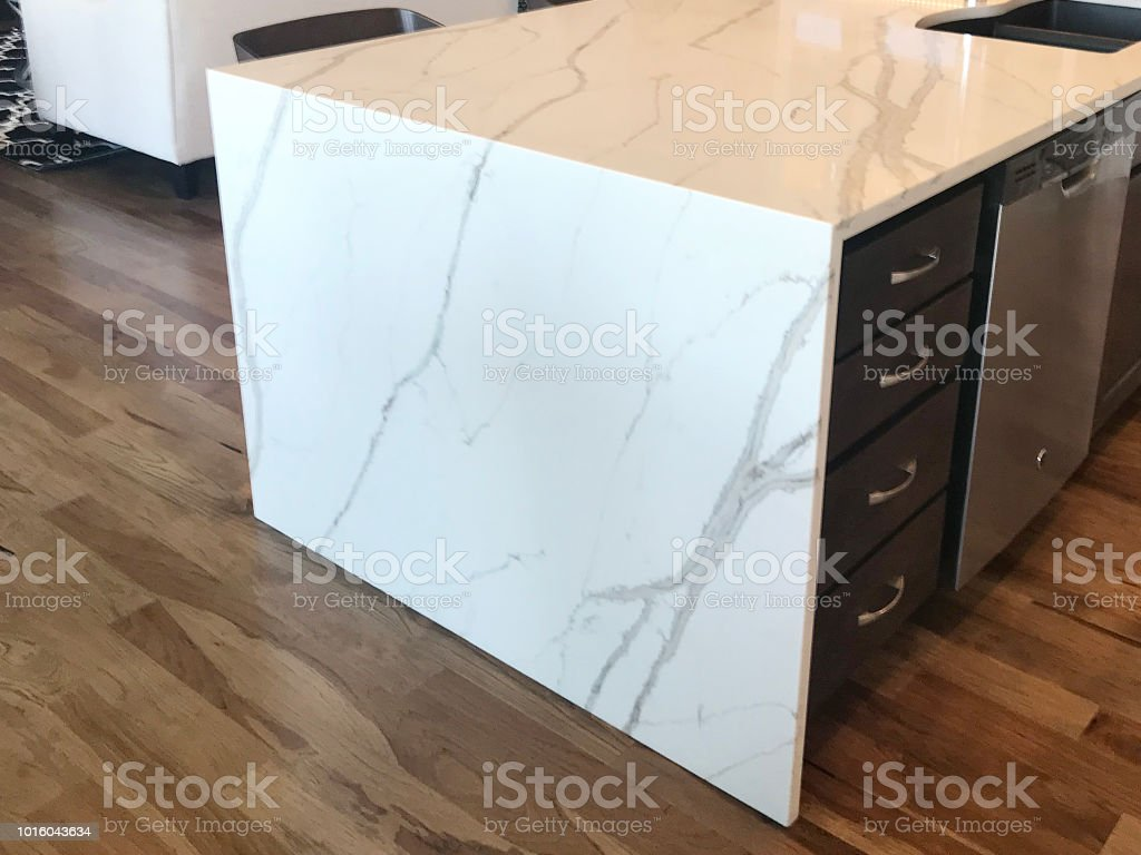 Kitchen Waterfall Island Stock Photo Download Image Now Istock