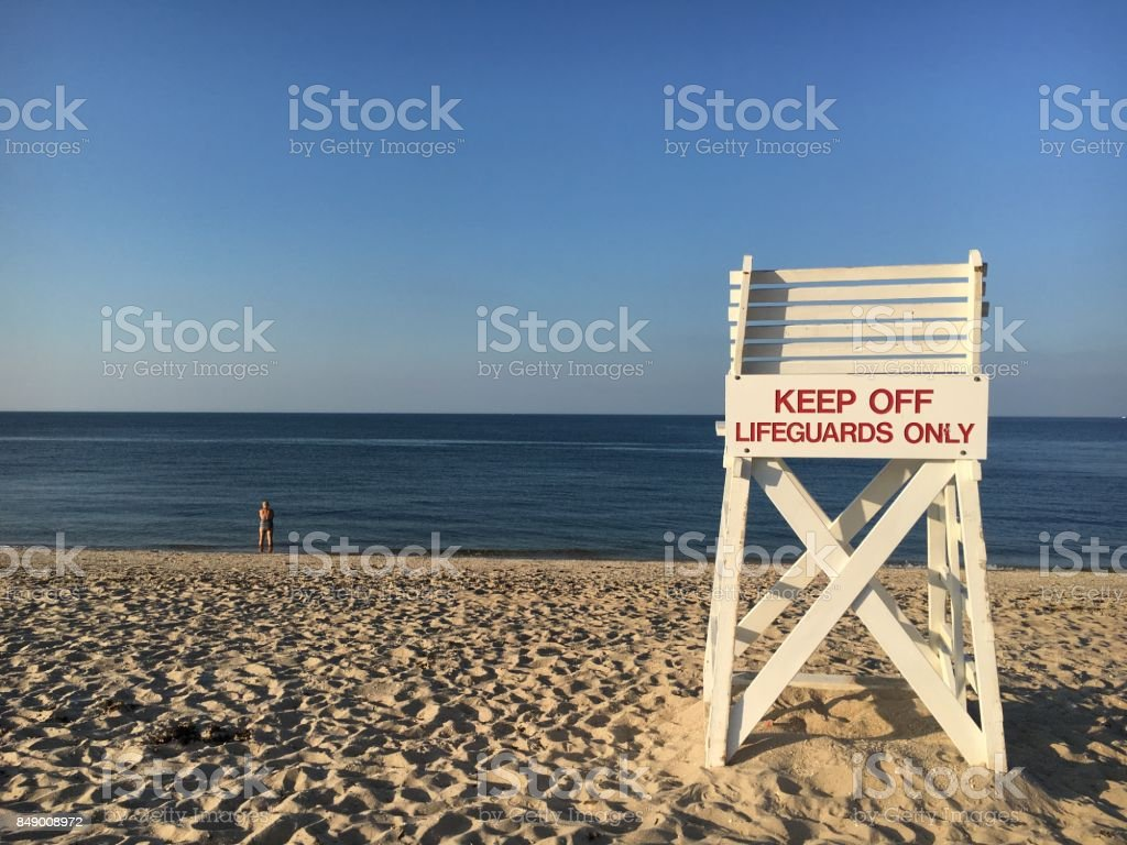 Lifeguard Chair At Sunken Meadow Park Stock Photo More