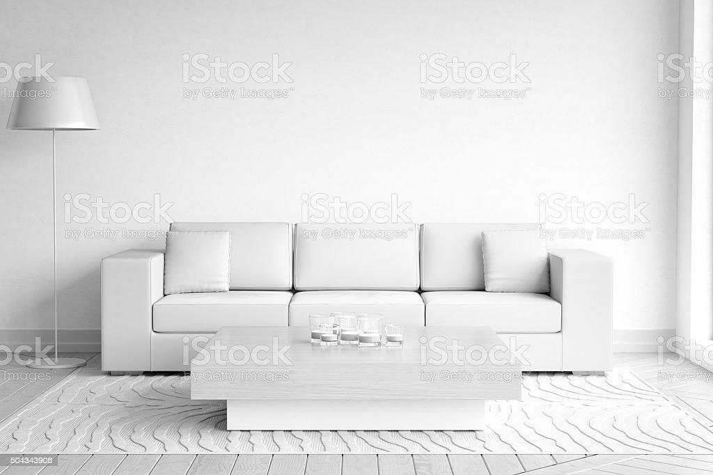 Black And White Wallpaper Bedroom Ideas Minimalist White Living Room Interior Stock Photo Amp More