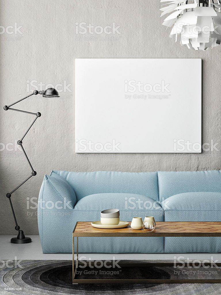 Camera Da Letto Hipster Mock Up Poster Hipster Living Room Foto Di Stock Istock