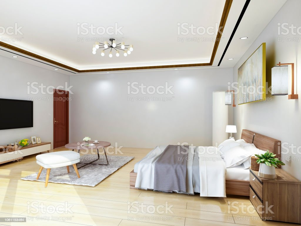 Modern And Luxurious Hotel Bedroom Design With Large Glass Windows Stock Photo Download Image Now Istock