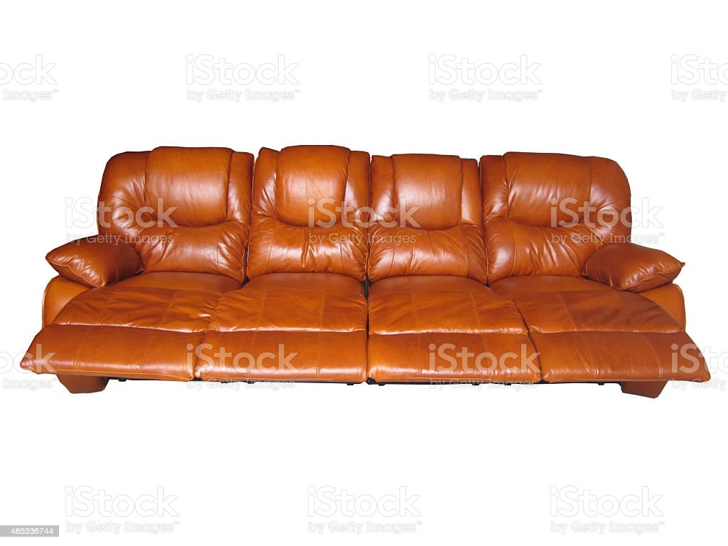 Modern Sofa Or Luxury Leather Sofa On White Background Stock Photo Download Image Now Istock