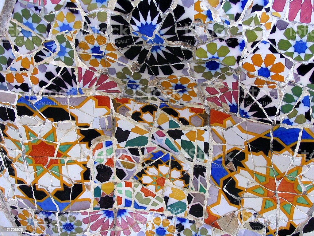 Mosaicos De Gaudi Mosaic By Gaudi In Park Guell Stock Photo More Pictures Of