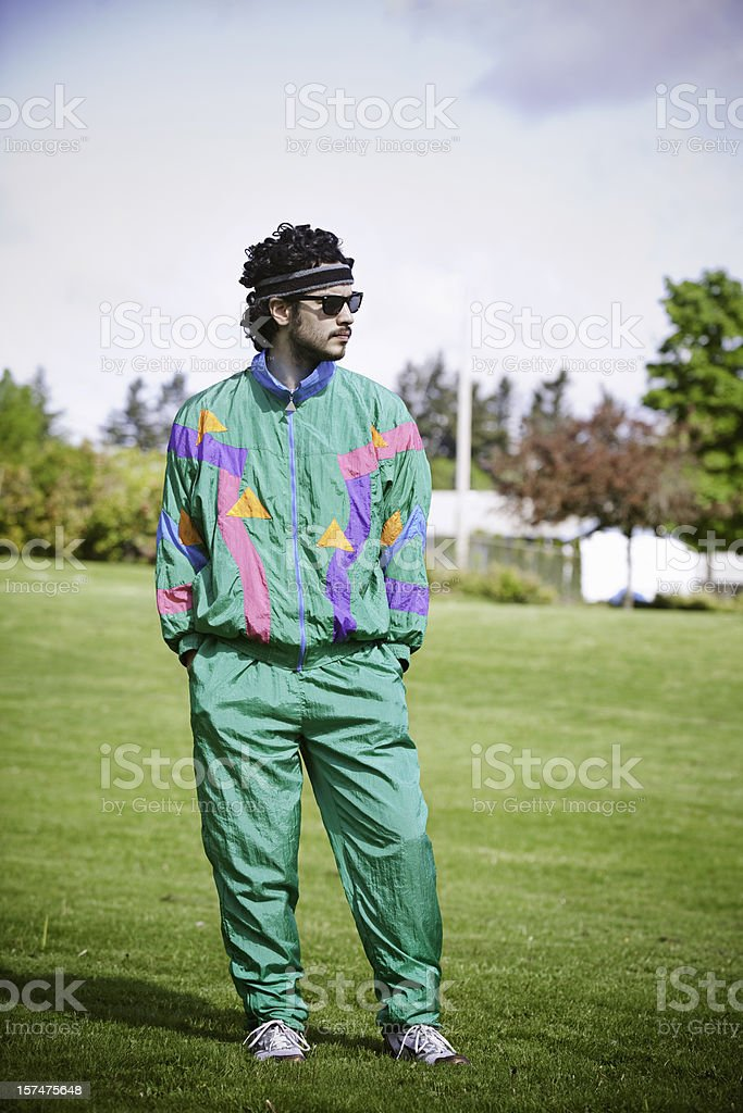 Adobe Stock Jump Mullet Runner With 1980s1990s Fashion Style Stock Photo