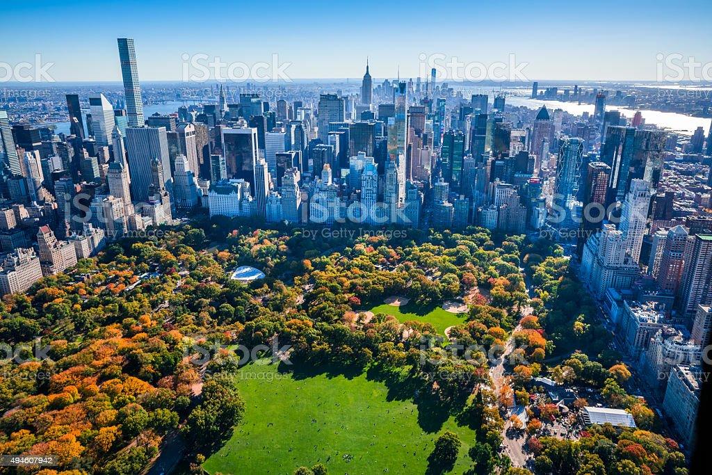 Upstate New York Fall Hd Wallpaper New York City Skyline Central Park Autumn Foliage Aerial