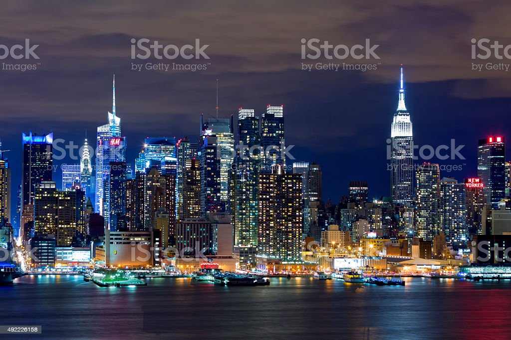 New York Skyline Pictures Images And Stock Photos Istock - Vorhang New York Skyline