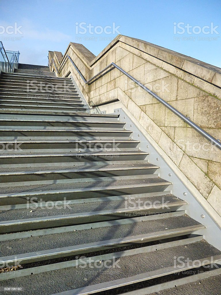 Outside Stairs Outside Stairs Stock Photo More Pictures Of Bridge Built