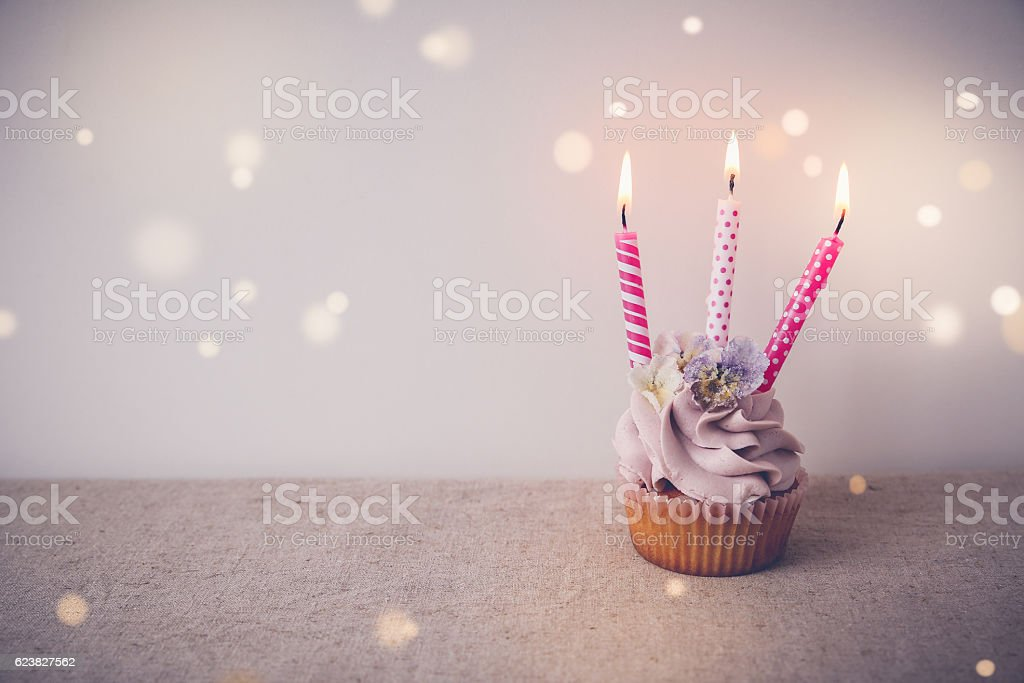 Cute Cupcake Wallpaper Royalty Free Cupcake 3 Candles Pictures Images And Stock