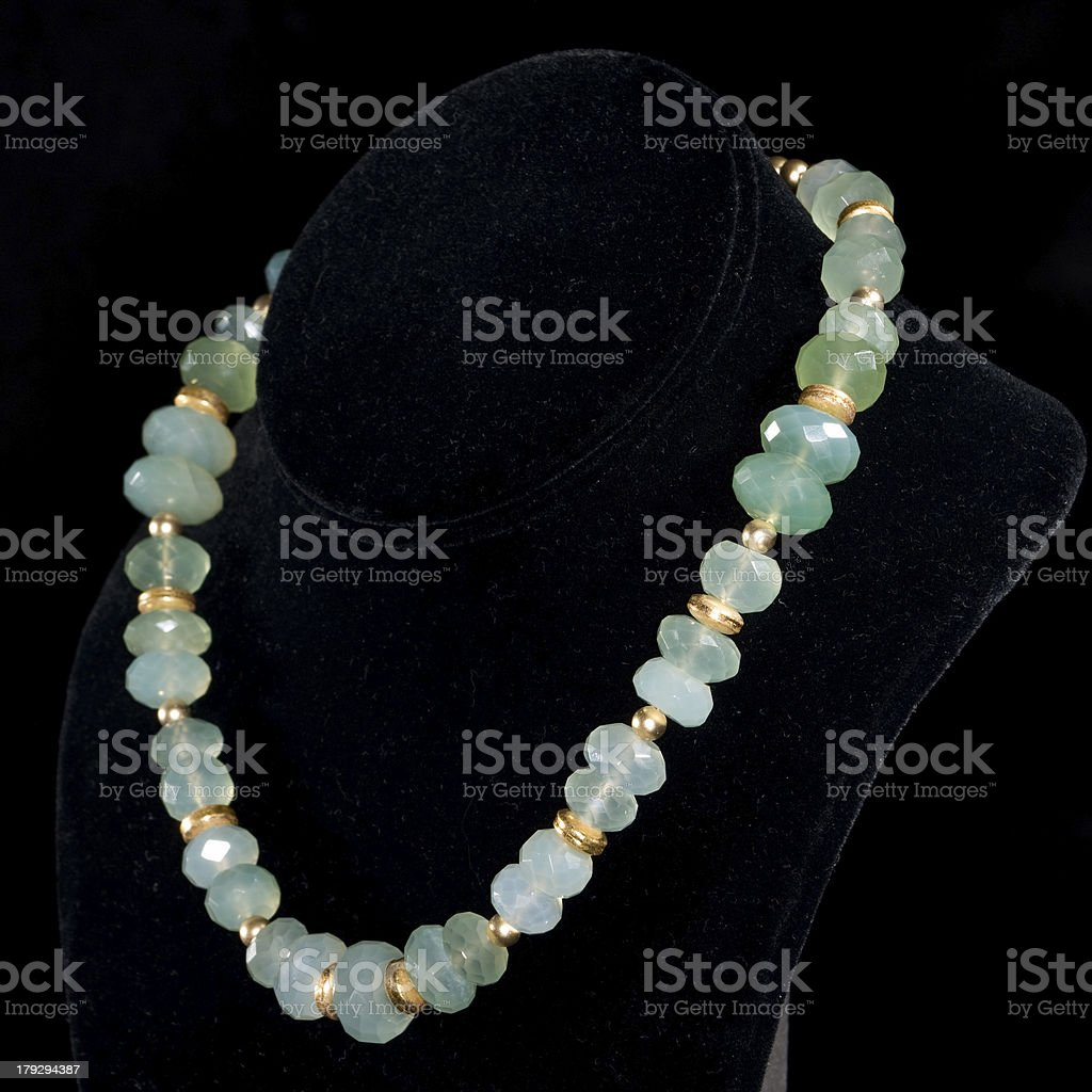 Lit Model Radiant Necklace On Rim Lit Model Bust Stock Photo More Pictures