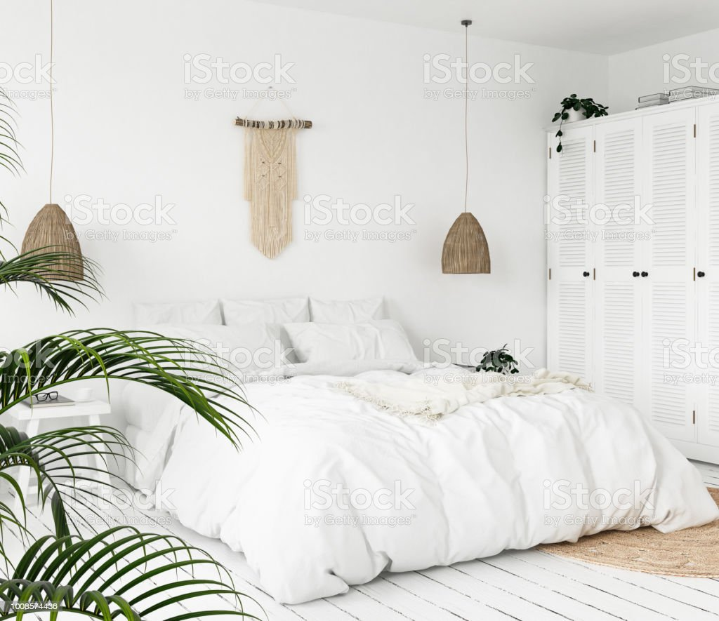 Scandiboho Style Bedroom Stock Photo Download Image Now Istock