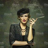 Royalty Free Smoking Women Cigarette Cigarette Holder ...