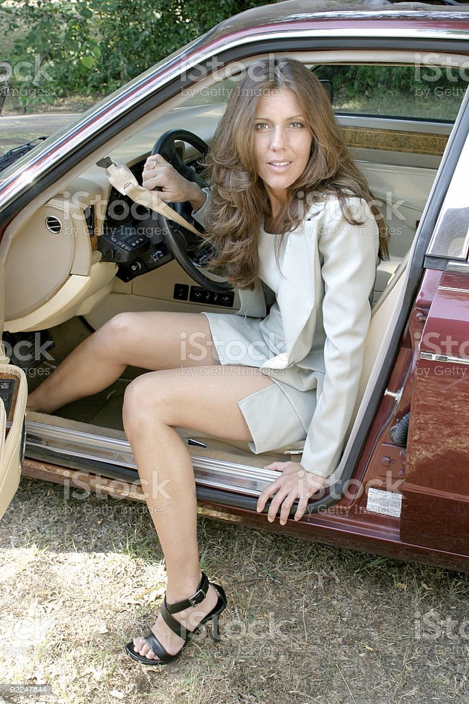 Free Wallpaper Cars And Beautiful Ladies Ferrari Sexy Business Woman Getting Out Of Car 3 Stock Photo
