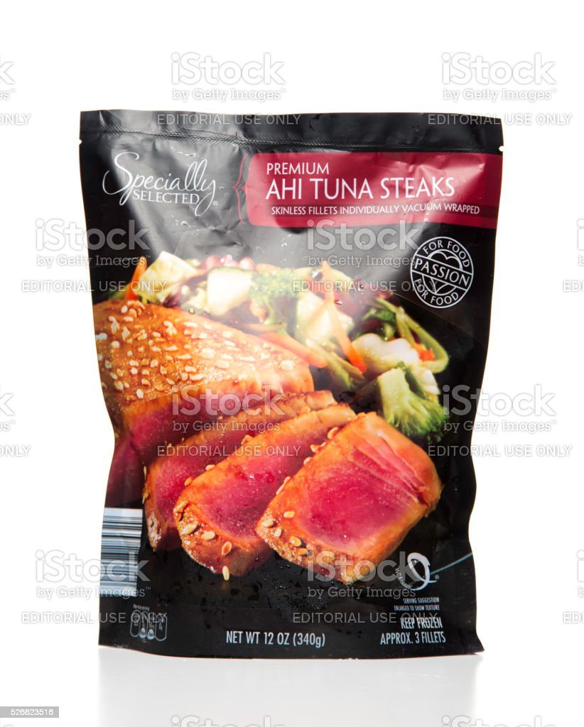 Aldi Lotus Grill Specially Selected Premium Ahi Tuna Steaks Bag Stock Photo More