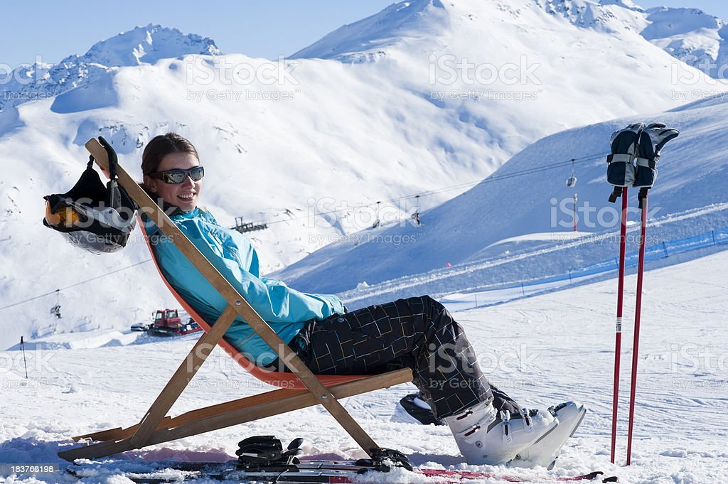 Royalty Free Lounge Chair Snow Ski Boot Winter Pictures