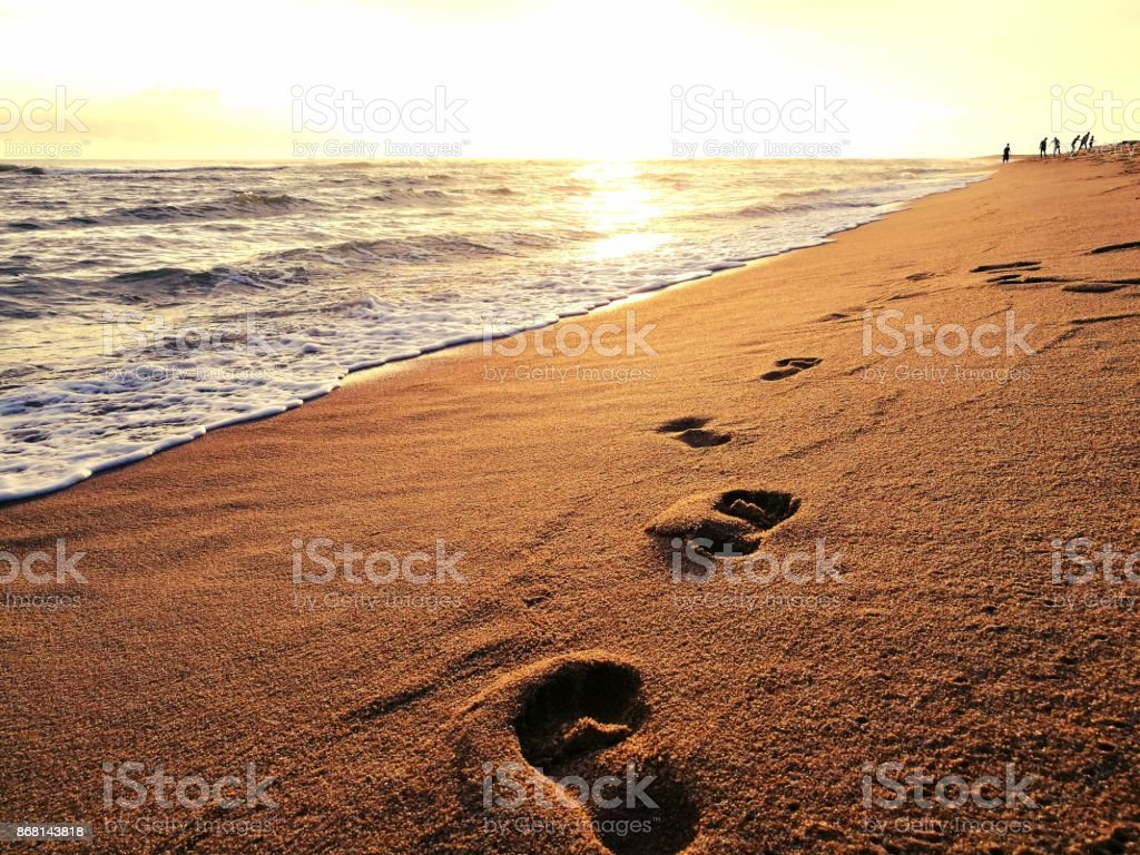 Royalty Free Child Footprint Sand Steps Pictures Images