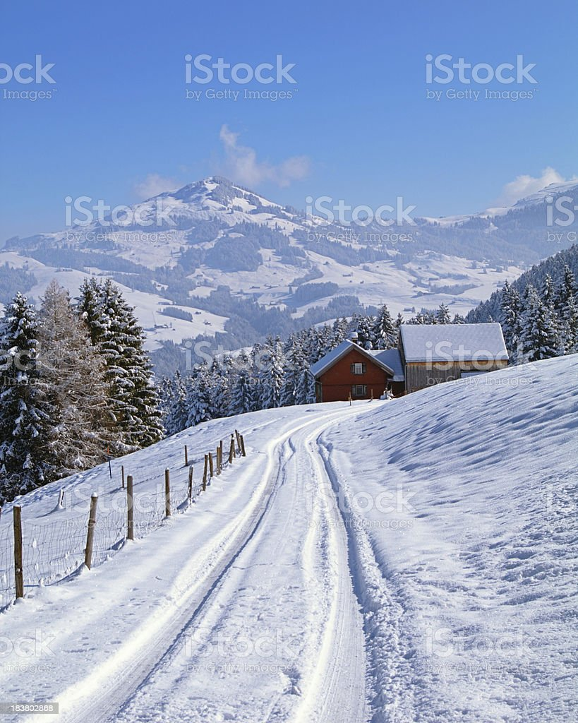 Xl Winter Winter In The Alps Xl Stock Photo More Pictures Of Agriculture