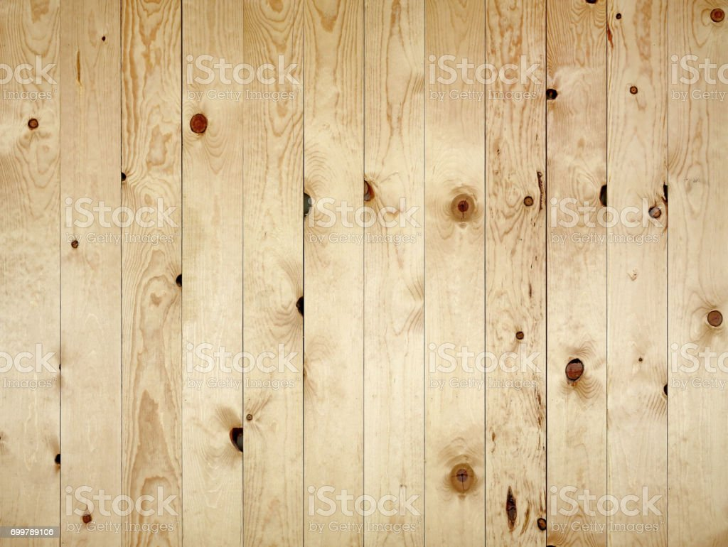 Teak Wandplank Wood Teak Plank Wall With Vertical Strip Pattern Stock Photo