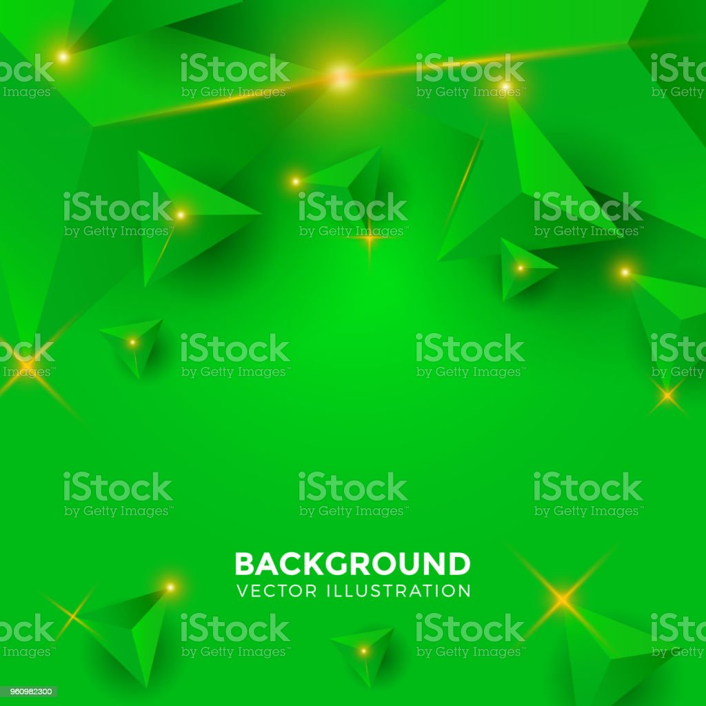 Papel Preto Verde Abstract Shiny White Black Green Tosca Triangle Background 3d