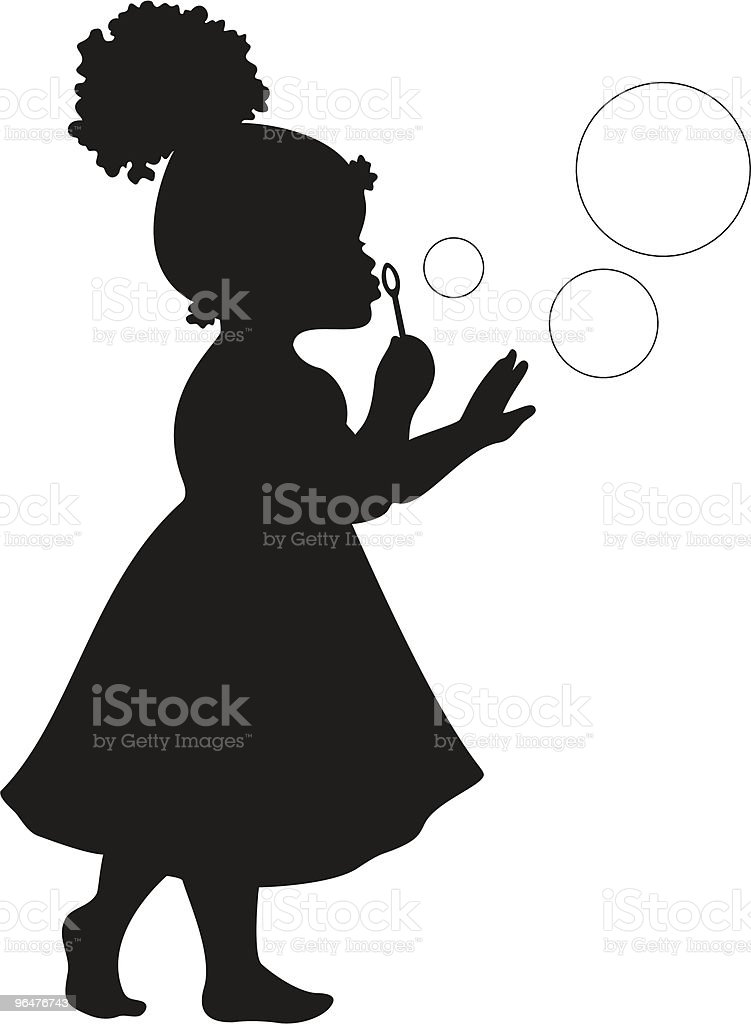 Positive Quotes Phone Wallpaper African American Girl Blowing Bubbles Stock Vector Art