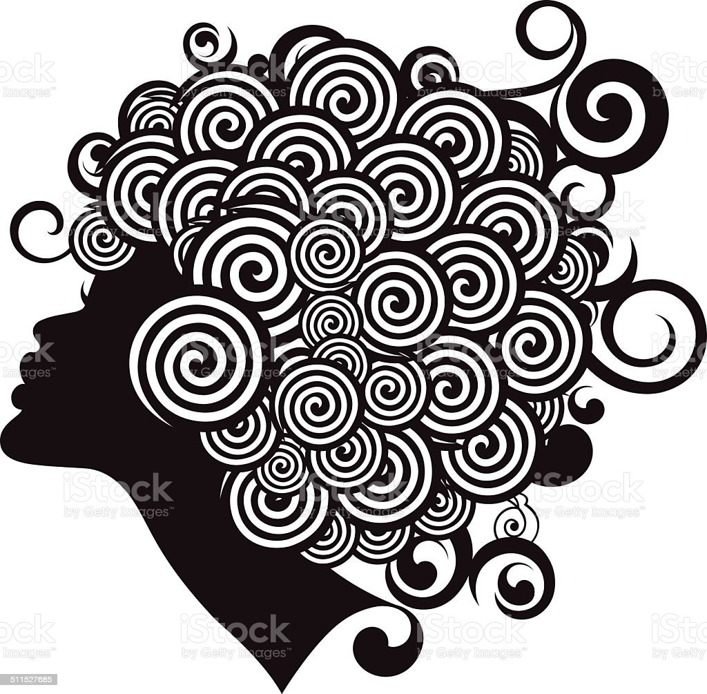 Straight Hairstyle Price Best Curly Hair Illustrations Royalty Free Vector