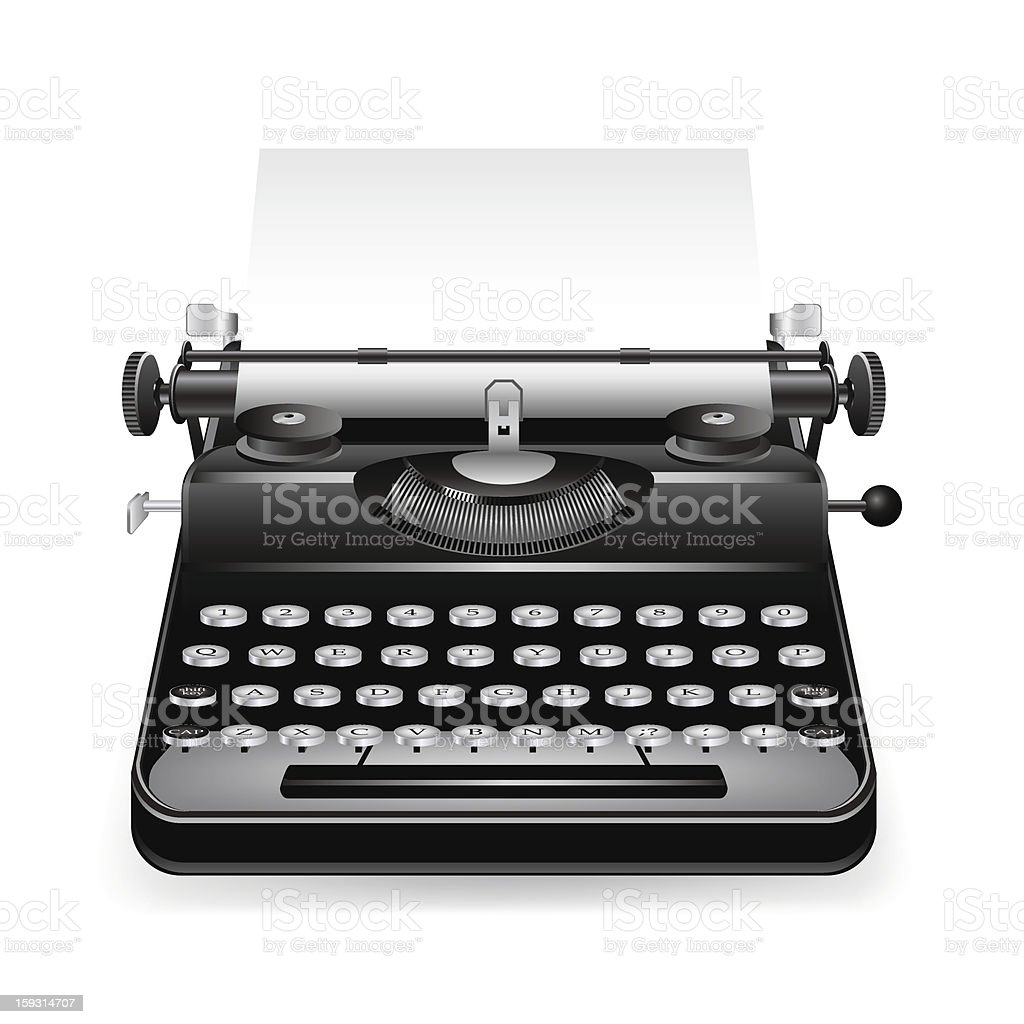Estilo Indirecto Libre An Old Fashion Nonelectric Black Typewriter Stock Vector