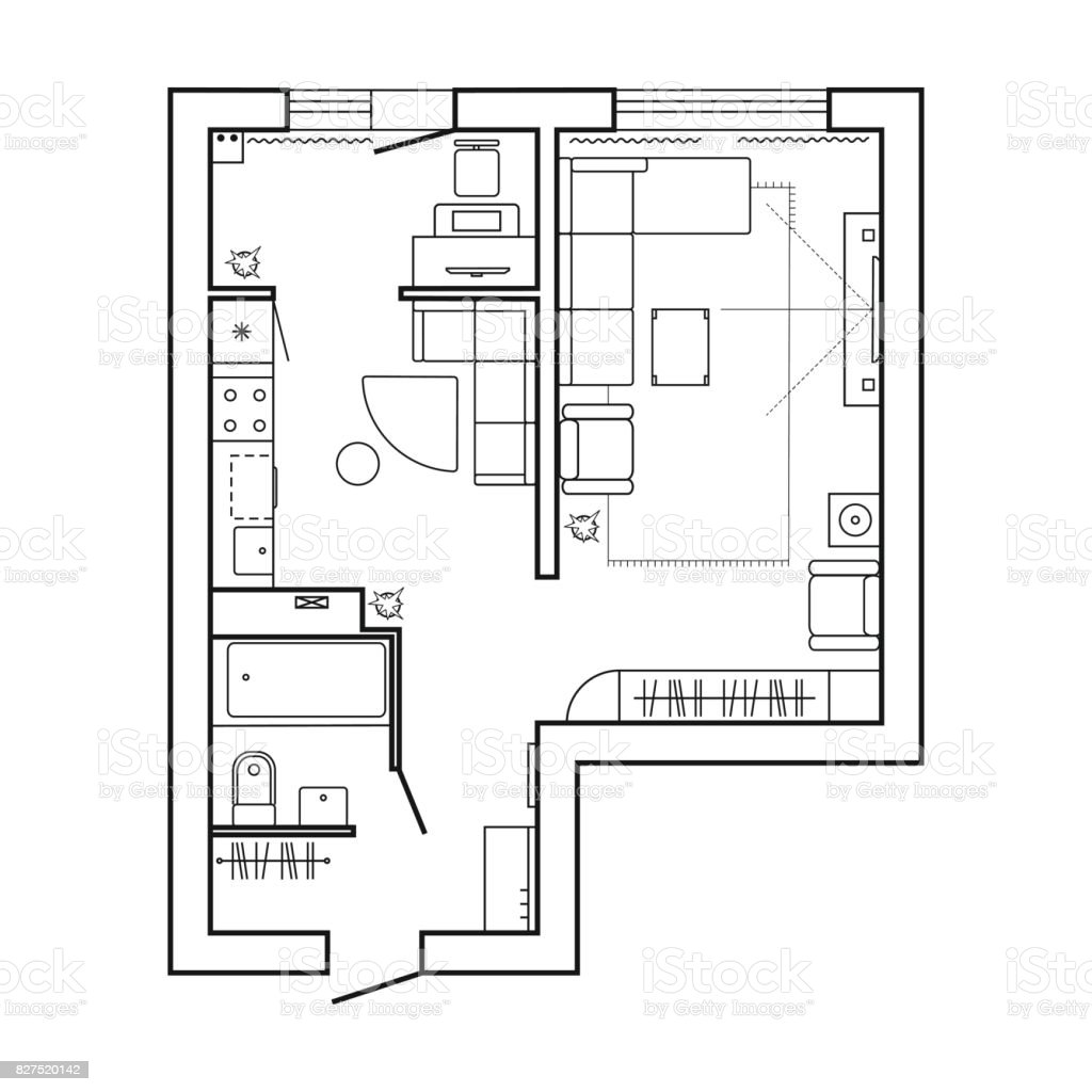 Küche Symbole Grundriss Architecture Plan With Furniture House Floor Plan Kitchen