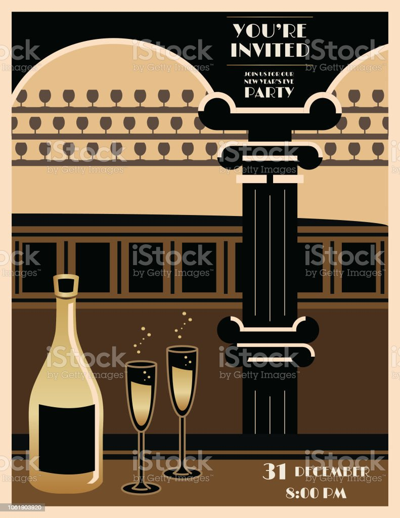 Deco Poster Art Deco Poster Stock Vector Art More Images Of Abstract