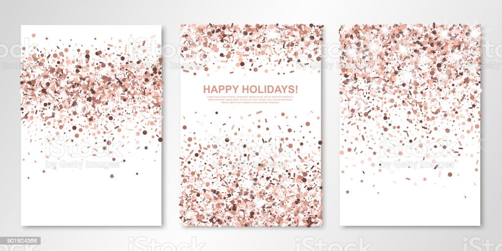 Royalty Free Rose Gold Glitter Clip Art Vector Images